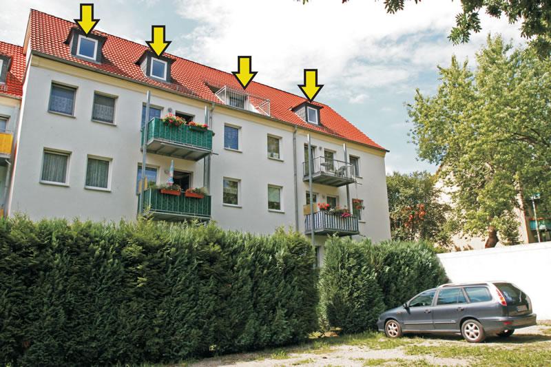 Mansardenwohnung Mozartstraße 6, 07580 Ronneburg; Vermietung durch Regner Lieder Söldner, Gitta Lieder-Söldner Hausverwaltung